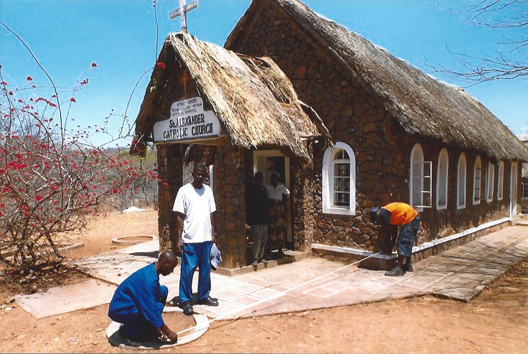 Mejoras en la iglesia de st alexandre en chezya zimbabwe for Oficina 2038 bankia